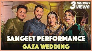 Sangeet Performance At Gaza Wedding | Awez Darbar Choreography