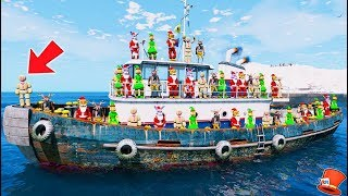 CHRISTMAS ANIMATRONICS LOST AT SEA! (GTA 5 Mods FNAF RedHatter)