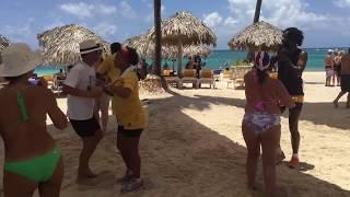 Iberostar Bavaro Suites Punta Cana beach seafood stew party
