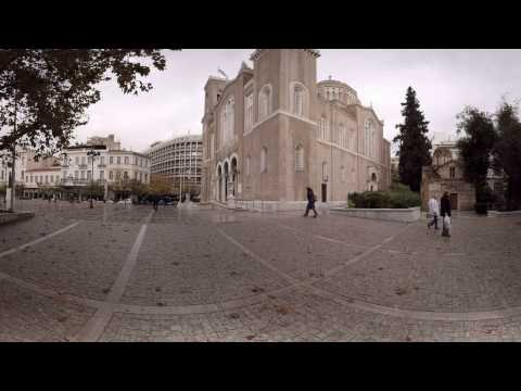 360 video: Metropolitan Cathedral, Athens, Greece