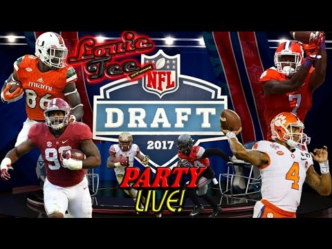Louie Tee Network 2017 NFL DRAFT PARTY LIVE! 1st Rd React & Analysis....