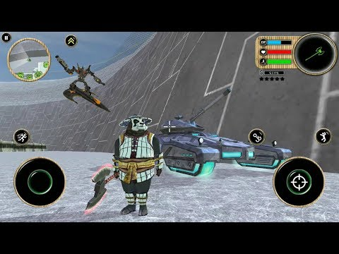 ► Kung Fu Panda Rope Superhero | Naxeex Robots | Rope Hero New Panda Mod Crime Simulator -Like GTA