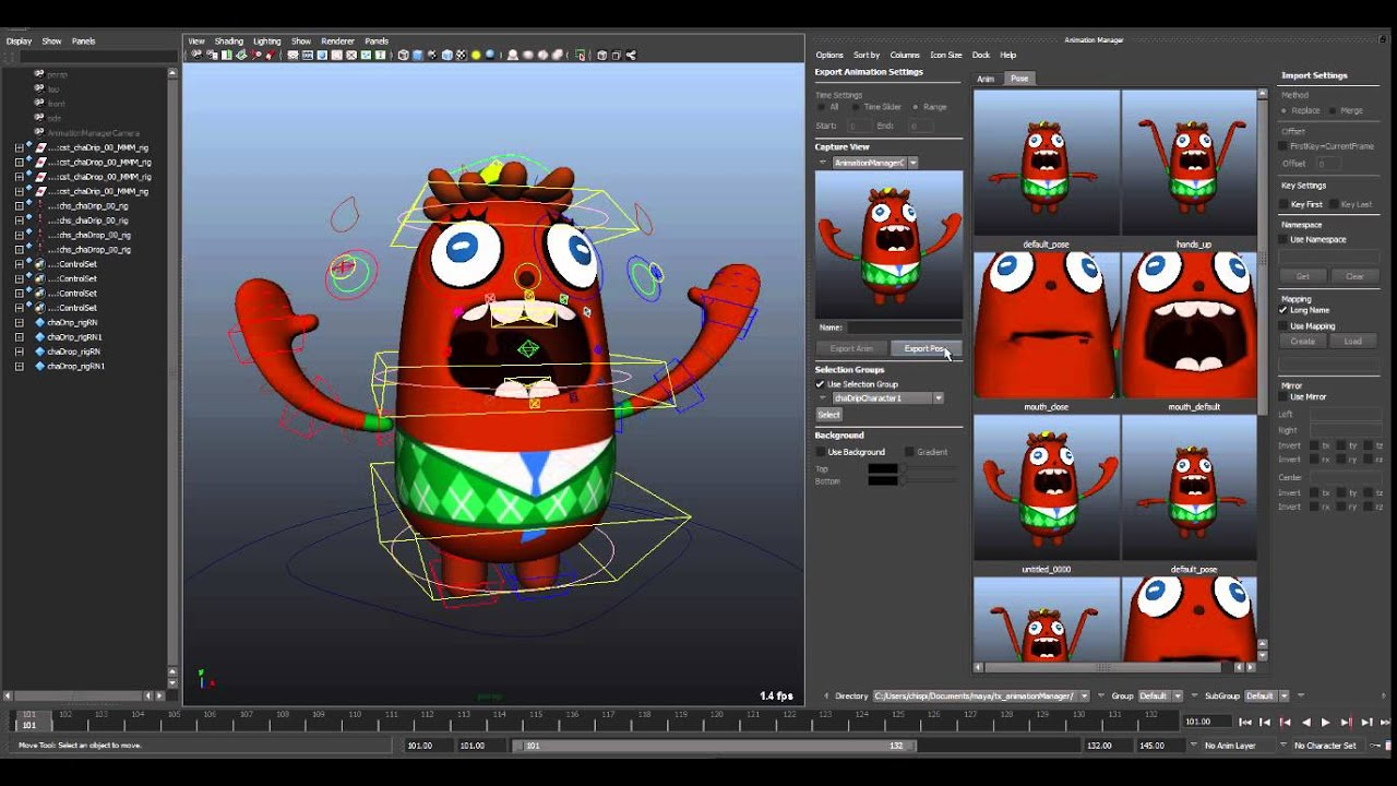 Animation Manager 0 9 29 / for Maya