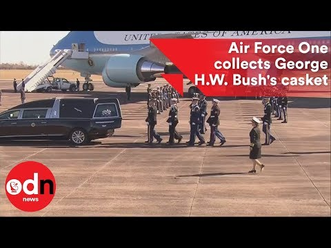 Air Force One sent to collect George HW Bush's casket