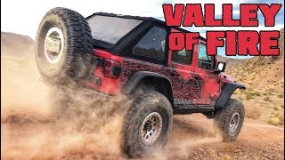 WHEELING the SRT 6.4L Hemi Jeep in the Valley of Fire!