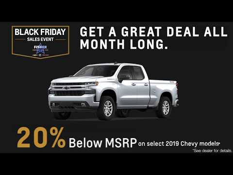 Black Friday Savings All Month Long At Fisher Chevrolet Buick GMC