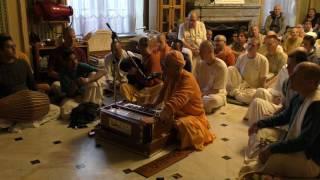 HH Kadamba Kanana Swami Welcome Kirtan 24 04 2017
