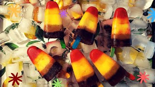 Fruit Popsicles recipe  Cocomelon Rainbow popsicle  colorful kuchi ice  Healthy Summer dessert