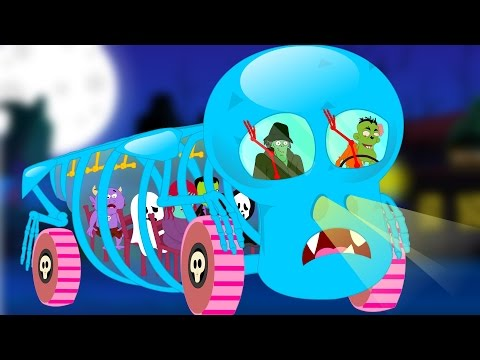 Wheels On The Bus Go Round And Round Kids Songs And Children Scary Nursery Rhymes