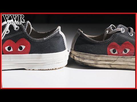 """[ASMR] Clean & restore """"COMME des GARÇONS x Converse"""" """"Low sneakers""""  -4k"""