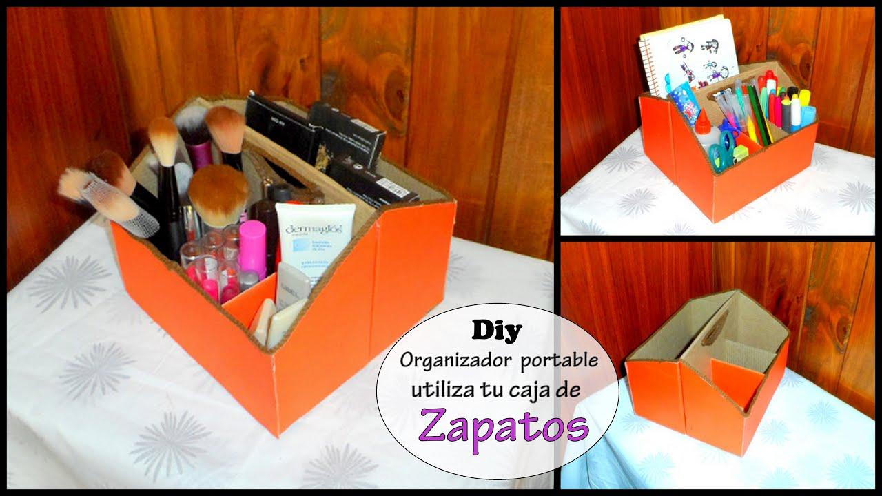 Diy organizador para maquillajes o de escritorio recicla - Organizador escritorio ...