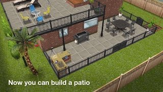 The Sims Freeplay Dream Home Update April 2015 Basements , Patios , Balconies Sneak Peek