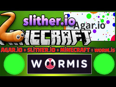 HUNGER GAMES ! - Minecraft + Agar.io + slither.io = WORM.IS (YENİ !)