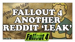 FALLOUT 4 Leak on Reddit Again? NO