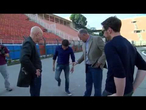 James McAvoy & Patrick Stewart Meet with Brazilian World Cup Coach Luiz Felipe Scolari in Brazil