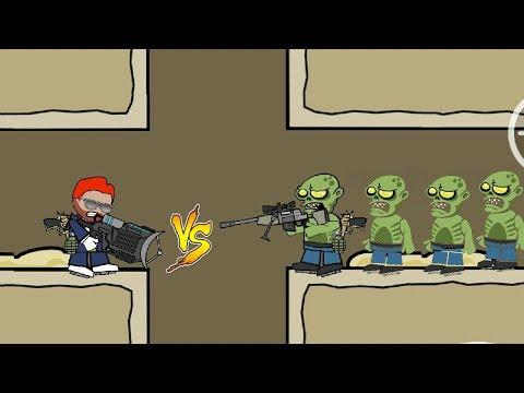 DA2 MiniMilitia Deadpool vs 3 Deadly Zombies