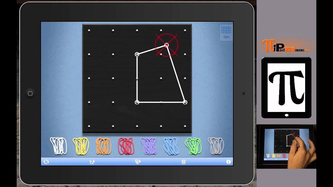 PiPad Mathematics: Math Learning Center iPad App Geoboard ...