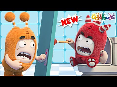 Oddbods   Toilet Door   NEW   Funny Cartoons For Children