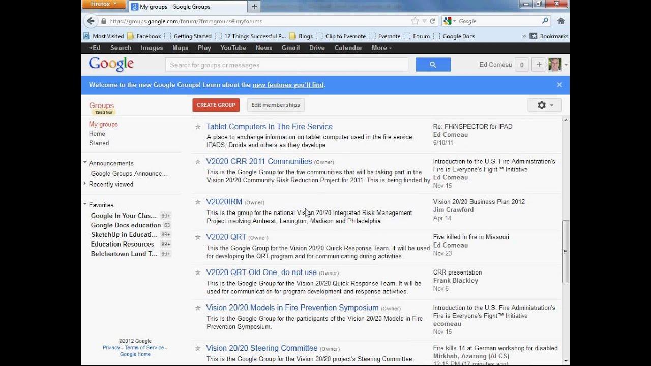 Adding People To Google Groups Youtube