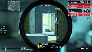 Call of Duty: Ghosts: 1v4 Clutch/Ace With Sniper!!!