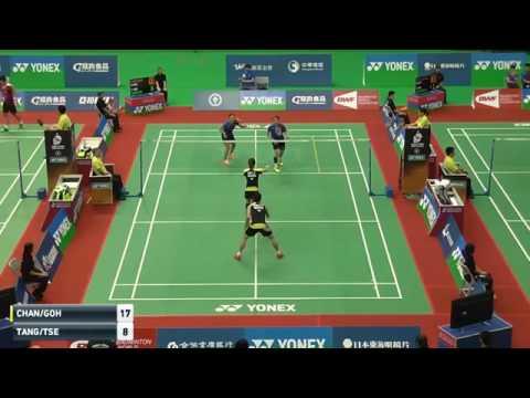 20160629 Taipei Open XD陳炳順+吳柳螢(馬)vs鄧俊文+謝影雪(港)