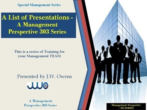 Video Presentation OF MANAGEMENT PERSPECTIVE SERIES 303