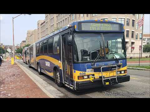 DASH (Alexandria, VA): 2002 Neoplan AN460A - Articulated #606... Metrorail Shutdown!