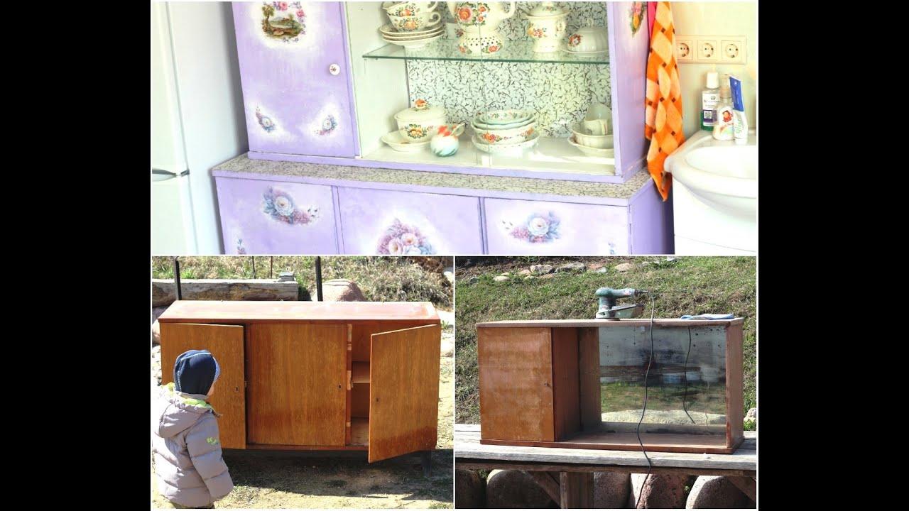 Как украсить старый шкаф своими руками в домашних условиях