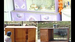 Реставрация и декорирование старого кухонного ШКАФА советской эпохи(Видео о том, как просто, быстро и качественно отреставрировать и задекорировать старую потрёпанную обувную..., 2016-04-02T20:58:44.000Z)