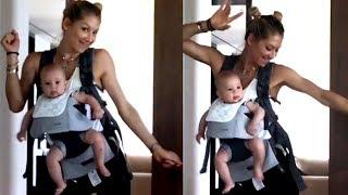 anna kournikova baila con su hija lucy iglesias en brazos