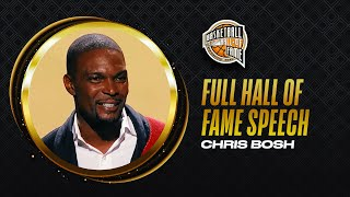 Chris Bosh | Hall of Fame Enshrinement Speech