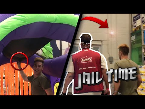 ALMOST ARRESTED IN LOWE'S ( I GOT CHASED ) *Not clickbait *