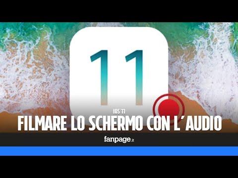 Filmare lo schermo di iPhone e iPad con l'audio, senza computer o Jailbreak
