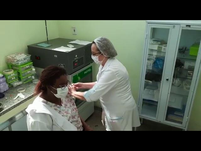 Primeira vacina em Volta Redonda