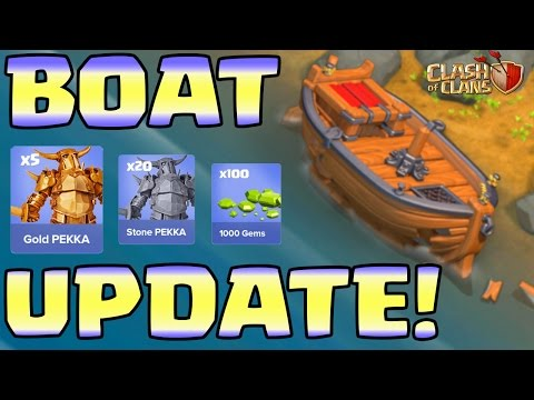 Clash of Clans UPDATE - SNEAK PEEKS SKIPPED? Boat FIXED by a Hog Rider?