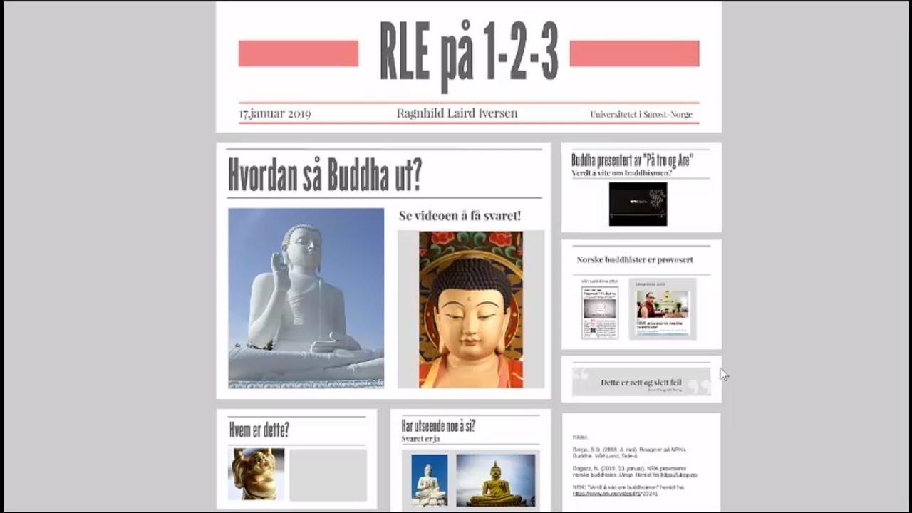RLE på 1-2-3: Hvordan så Buddha ut?