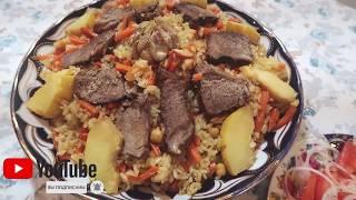 Плов праздничный Рецепт как приготовить плов пошагово в казане на плите в домашних условиях