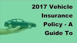 2017 Vehicle Insurance Policy  | A Guide To Classic Car Insurance