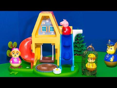 PEPPA PIG Nickelodeon PAW PATROL Weeble New Toys Playset Video