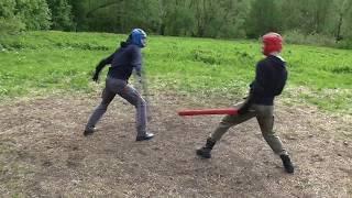 Тренировочный спарринг на тямбарах