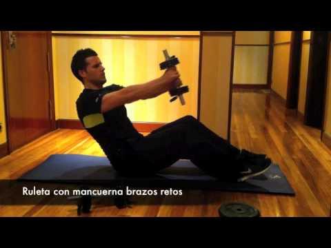 como hacer pesas para abdominales