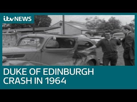Newly uncovered archive emerges of 1964 crash involving Duke of Edinburgh | ITV News