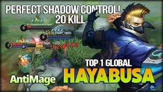 20 Kill Shuriken Monster!! AntiMage Top 1 Global Hayabusa - Mobile Legends