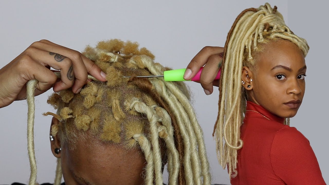 Faux Locs On My Super Short Hair Rubber Band Method Youtube
