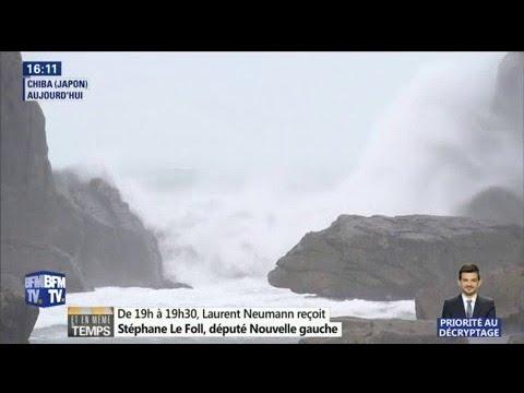 Japon: à quoi ressemble le typhon Lan vu de l'espace