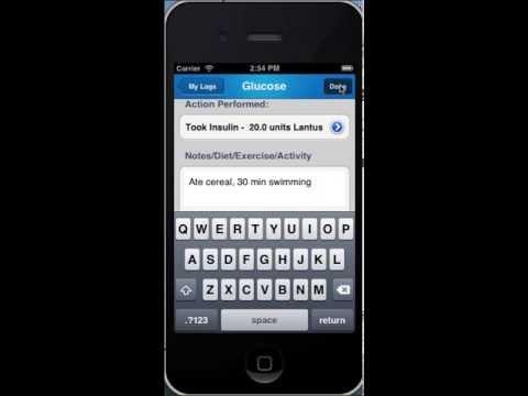 iDiabetes™ - Blood Glucose Tracker (Smartphone app)