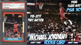 1986 Michael Jordan Fleer #57 rookie cards for sale; graded PSA 10; PWCC Premier Auctions