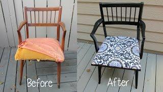 Garbage to Gorgeous Episode 9: Chair Makeover Craft Klatch DIY