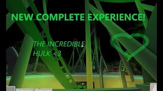 NEW COMPLETE EXPERIENCE! - The Incredible Hulk - Universal Studios Roblox