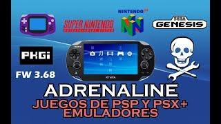 Corriendo emuladores en el emulador de PSP Adrenaline PS Vita 3.68 H-Encore 2018